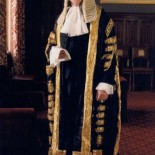 Lord Irvine, in his robes as Lord Chancellor