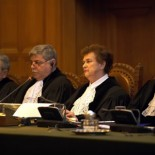Public hearings of the Court presided over by H.E. Judge Rosalyn Higgins (picture ICJ)