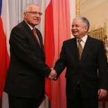 Vaclav Klaus, president of the Czech Republic, and Lech Kaczynski, president of Poland (source Archive of the Chancellery of the President of the Republic of Poland)