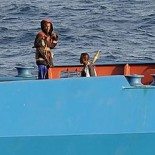 Somali pirates holding the merchant vessel MV Faina (picture US Navy)