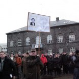 Protests in Reykjavik demanding the resignation of central bank governor David Oddsson (picture Christine Lowe / Flickr)