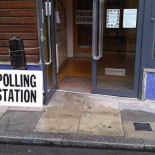 A polling station in London