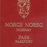 The Norwegian passport features the name of the country in both official languages, as well as in English