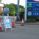 A petrol station closed by panic buying (picture Mike1024)
