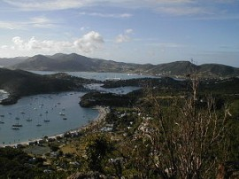 English Harbour and Falmouth Harbour on Antigua (picture Frederik Ramm)