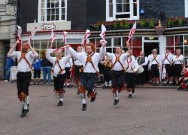 Morris dancers outside the Pump House in Brighton Lanes (picture william / geograph.org.uk)