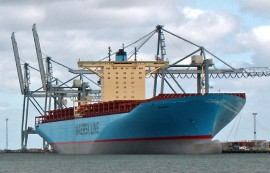 Emma Maersk, one of the world's largest container ships (picture Nils Jepsen)